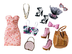 barbie stardoll pretty pink fashion pack