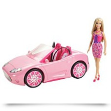 Barbie Glam Convertible And Doll Set