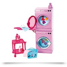 Barbie Glam Laundry Furniture Set