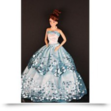 On SaleBlue Ball Gown With Light Blue Sequined
